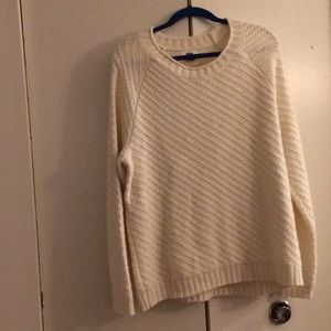 Old Navy cream colored knit sweater.